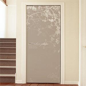ドアシート ドア用壁紙 ドアシール クロス 玄関 ドア に 貼る シート シール のり付き インテリア ドアリフォーム ステッカー 【メルヘンガーデン[0492100]】