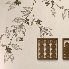 ウォールステッカー 【アラビカ】 壁 窓 リフォーム 北欧 転写 木 リビング 壁シール wallsticker インテリアシール カフェ ナチュラル 鳥 寝室 キッズ 子ども部屋 サンサンフー
