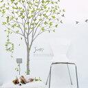 ウォールステッカー 木 シール式 飾り ガラス キッチン DIY 壁紙 装飾 シール スイートガーデン