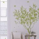 ウォールステッカー 誕生日 はがせる 英字 木 ウォール 飾りつけ DIY 飾り 窓 リトルガーデン(カラー:オリーブ)
