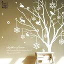 ウォールステッカー 【ホワイトツリー】 はがせる 壁 窓 リフォーム 転写 リビング 壁シール wallsticker インテリアシール 寝室 星 ク…