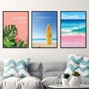 ポスター A3 海 夏 ビーチ 西海岸 インテリア 海外 デザイン アート プリント おしゃれ ビビットカラー 【カリフォルニアスタイルコレ…