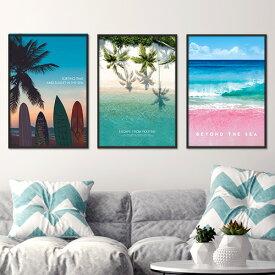 ポスター A3 海 夏 ビーチ 西海岸 インテリア 海外 デザイン アート プリント おしゃれ ビビットカラー 【カリフォルニアスタイルコレクション】※フレームなし