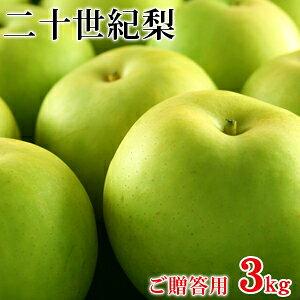 二十世紀梨(20世紀梨)3kg詰(8玉前後入/2L〜3Lサイズ) 鳥取県産 赤秀(ご贈答用) 送料無料(北海道・沖縄を除く)