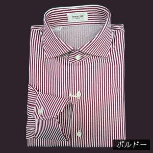 長袖ワイドカラーシャツ