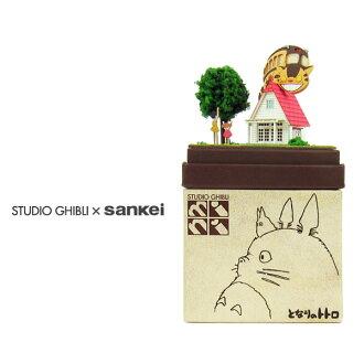 我的邻居龙猫工作室吉卜力迷你 ◆ 模型纸 (纸工艺/套件) ◆ 内部配件和俑