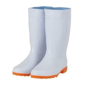 耐油衛生白長靴 豊富なサイズ:22.5cm〜30cmまで 調理場や水廻り、食品工場の必需品、衛生白長靴。 耐油性なので油の多い職場でもお使いいただけます。