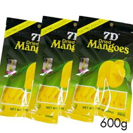ドライフルーツ マンゴー 7D ドライマンゴー 200g×3袋 【まとめ買い】 国内初 正規輸入品 大容量200gパック 通常商品70gの2.8倍 ノンコレステロール フィリピン セブ ヨーグルト シリアル トッピング