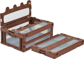 折りたたみ収納ボックス・収納ケースオリコン(折りたたみコンテナ) マドコンC-55B <外寸>64.9×43.9×26.2cm
