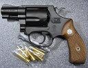 タナカ 発火モデルガン S&W M36 アーリー HW 2インチ 木製ダイヤチェッカーグリップ付 28500