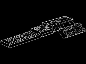 STRIKEINDUSTRIESAK用リアサイトレイルマウントVer.2MB-SI-AKRR2