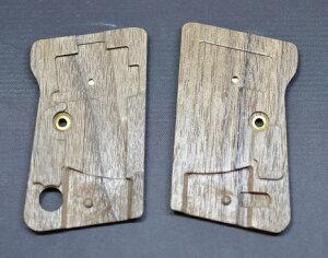 RobinHoodグリップWE製25AUTO用フルチェッカー木製