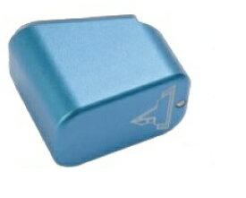 C&C Tac ベースパッド Long Blue 東京マルイGlock17マガジン用 TTI Firepowerタイプ アルミCNC CCT0041