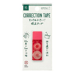 ミドリ 修正テープ 小型 携帯 XS コンパクト ピンク ミニ文房具