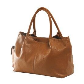 Jamale ブランド 日本製 牛革バッグ ハンドバッグ 2way レディース 本革 キャメルブラウン 茶色ショルダーベルト付きで斜め掛けもOK A4サイズが入る使いやすい本革バッグ (No.7346)リアルレザー 送