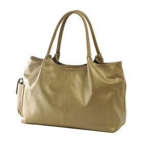 Jamale ブランド 日本製 牛革バッグ ハンドバッグ 2way レディース 本革 ゴールド 金色ショルダーベルト付きで斜め掛けもOK A4サイズが入る使いやすい本革バッグ (No.7346)リアルレザー