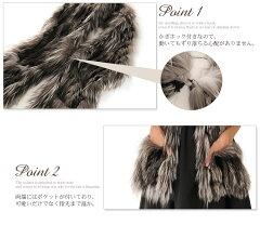 シルバーフォックス&レッキスマフラー編み込みポケット付き(No.01000205)