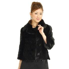 ブラック ミンク ケープ ジャケット レディース リアルファー ファーケープ 美しい艶 輝きは 上質素材 ストール 毛皮 ミンクストール 軽量 秋 冬 ギフト プレゼント ギフト
