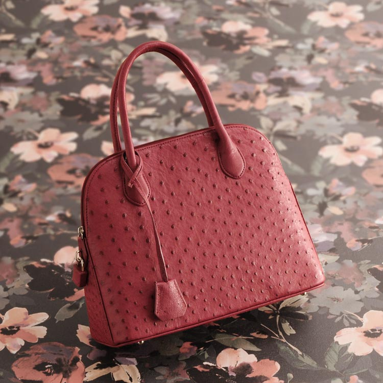 オーストリッチ ハンドバッグ フルポイント 2WAY 仕様 レディース 本革 バッグ 軽量 全11色 ギフト プレゼント