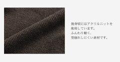 ラビットファーフード付きニットベスト/レディース(No.01000720)