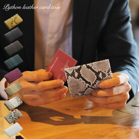 【GOODA掲載】ダイヤモンド パイソン 名刺入れ 内側ヌメ革 約40枚収納 メンズ 全9色 ギフト プレゼント パイソン柄
