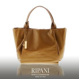 RIPANI イタリア製 ブランド 牛革 トートバッグ レディースバッグ A4 対応 ソフトレザー 柔らかい 本革 通勤バッグ 大きいサイズ 全5色 母 女性 プレゼント 在庫限り ギフト