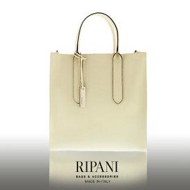 【10%OFFクーポン対象】RIPANI/リパーニ イタリア製 サフィアーノ レザー トートバッグ 2way A4 牛革 本革 縦型 レディース 全5色 ギフト
