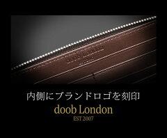 doobLondonドゥーブロンドンコードバンラウンドジップ長財布メンズ馬革薄型スリム