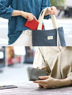 財布レディースミニ財布コンパクト長財布Jamale日本製シュリンクレザーレッドカーキ