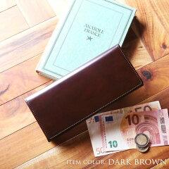 コードバンメンズ財布薄型一枚革dooblondonダークブラウン