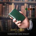 【10%OFFクーポン対象商品】doob London コードバン ミニ 財布 ブランド メンズ ラウンドファスナー 小さい 軽い コン…