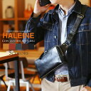 HALEINE 横型 ボディバッグ 牛革 日本製 アレンヌ メンズ 本革 男性 ファニーパック ギフト プレゼント ブランド