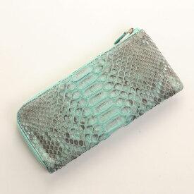 ダイヤモンド パイソン 長財布 メンズ L字 ファスナー 薄型 軽量 全8色 本革 蛇革 サイフ 誕生日 ギフト 父の日 プレゼント 以外 パイソン柄