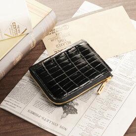 【クーポンでお買い得】クロコダイル コンパクト 財布 L字 ファスナー式 ヘンローン パール シャイニング レディース ワニ 本革 小さい財布 ミニ財布 ナイルクロコダイル ギフト (06000870r) クリスマス 『ギフト』
