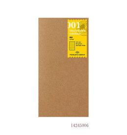 【あわせ買い対象商品】横罫/001 (ミドリ デザインフィル トラベラーズノート リフィル) 14245