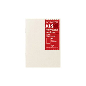 TRAVELER'S notebook〜☆トラベラーズノート・パスポートサイズリフィル☆〜【008】 画用紙 14372-006 ミドリ【un】