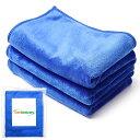 洗車タオル マイクロファイバークロス 超吸収タオル 洗車のプロ こだわり クロス (3枚セット 40 x 50cm)