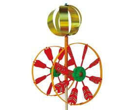 【ベランダ用こいのぼり 矢車単品】【プラ矢車】 回転球付 差し込み口径13mm