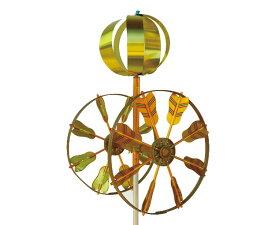 【ベランダ用こいのぼり 矢車単品】 アルミ矢車 回転球付 差し込み口径13mm