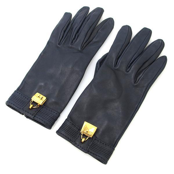 【送料無料】【中古】エルメス レザー手袋 【Bランク】
