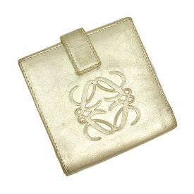 【中古】ロエベ 二つ折り財布 【Bランク】