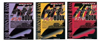 Katsuichi (Decoy) worm hook go circle hook Roch circle hook Nana circle hook worm 18 NS black (kset0178)