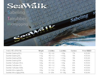 Yamaga blanks (YAMAGA Blanks) Sea Walk crip walk Tairubber SWT-61L