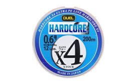 【特価】デュエル(DUEL) PE ライン HARDCORE X4 200m 0.4号 マーキングシステム/10mx5色