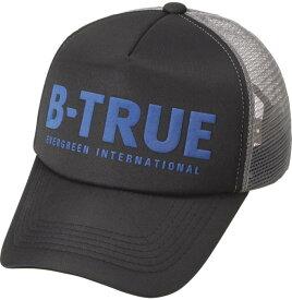 B-TRUE ベーシックメッシュキャップ ブラック/グレー (BT-cap)