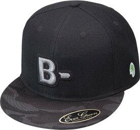 B-TRUE フラットキャップ タイプB ブラックカモ×BK (BT-cap)