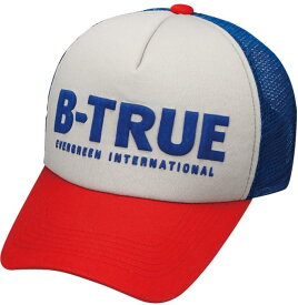 B-TRUE ベーシックメッシュキャップ レッド/グレー/ブルー (BT-cap)