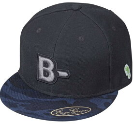 B-TRUE フラットキャップ タイプB ブルーカモ×BK (BT-cap)