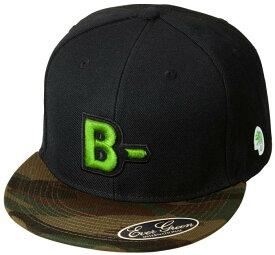 B-TRUE フラットキャップ タイプB グリーンカモ×ブラック (BT-cap)