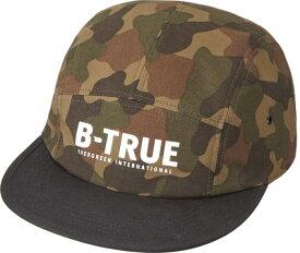 B-TRUE ジェットキャップ グリーンカモ×ブラック (BT-cap)
